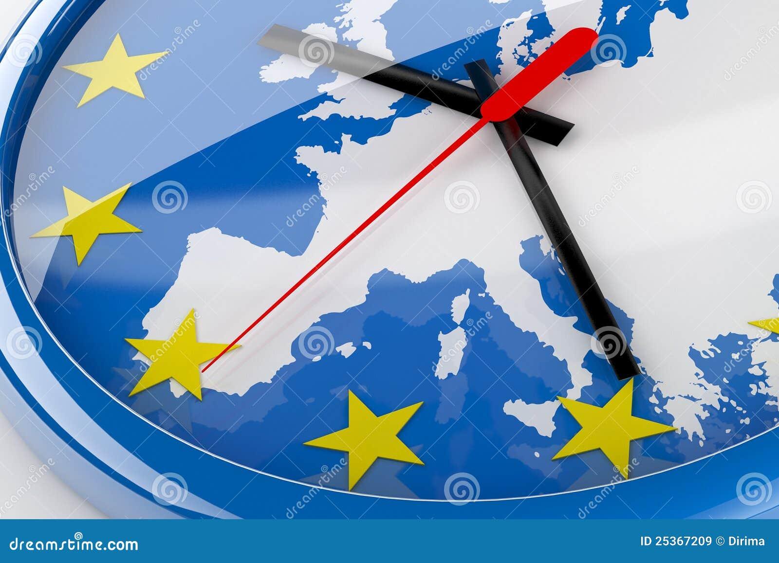 время евро