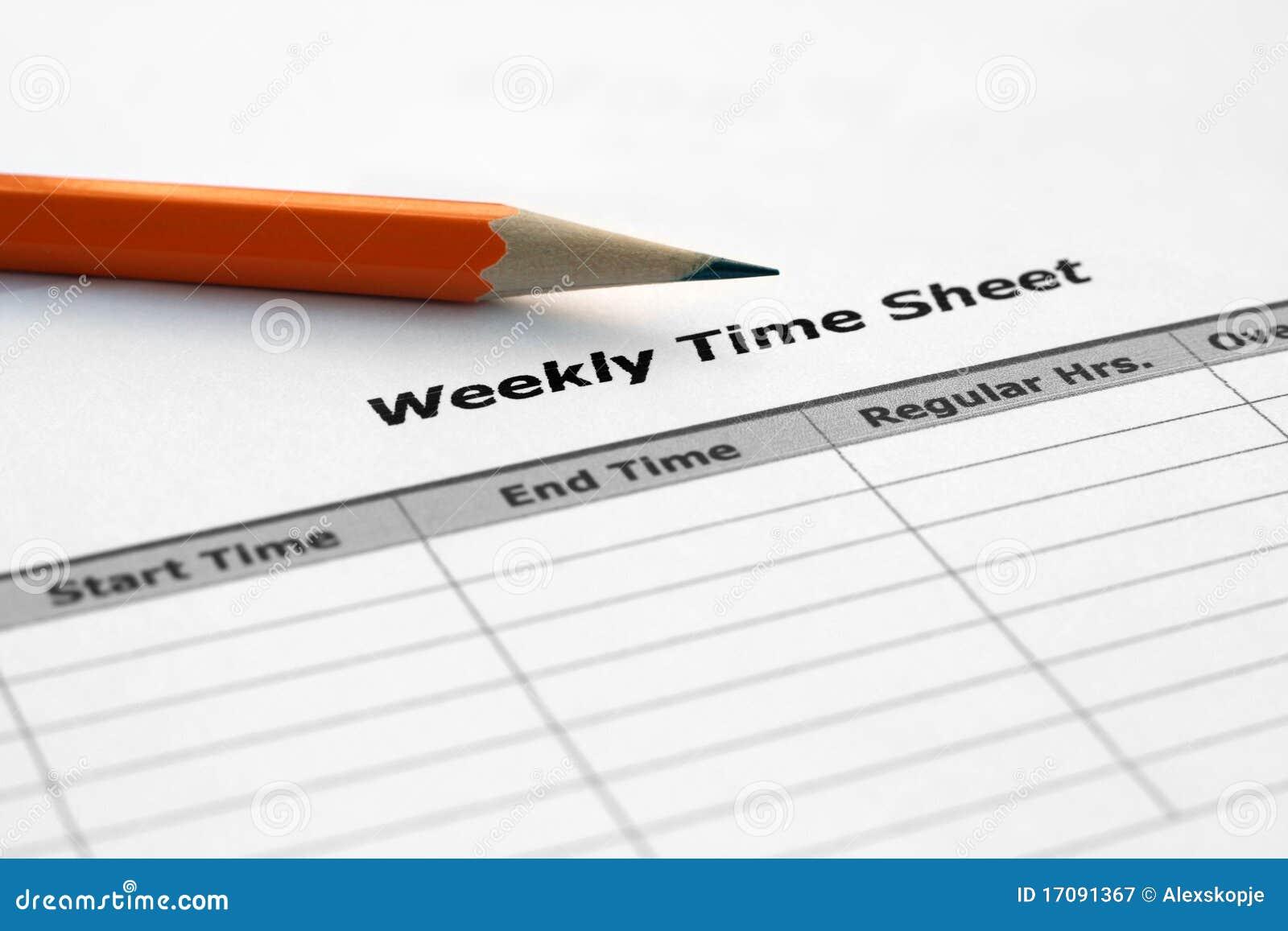время листа еженедельное