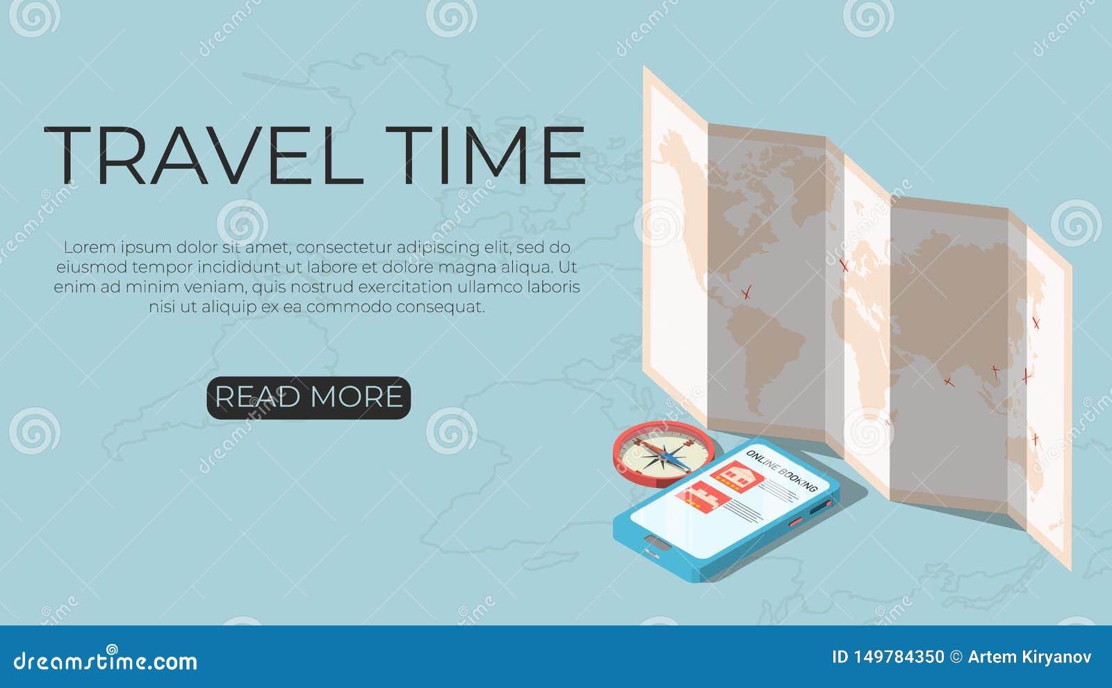 Время путешествовать концепция шаблона