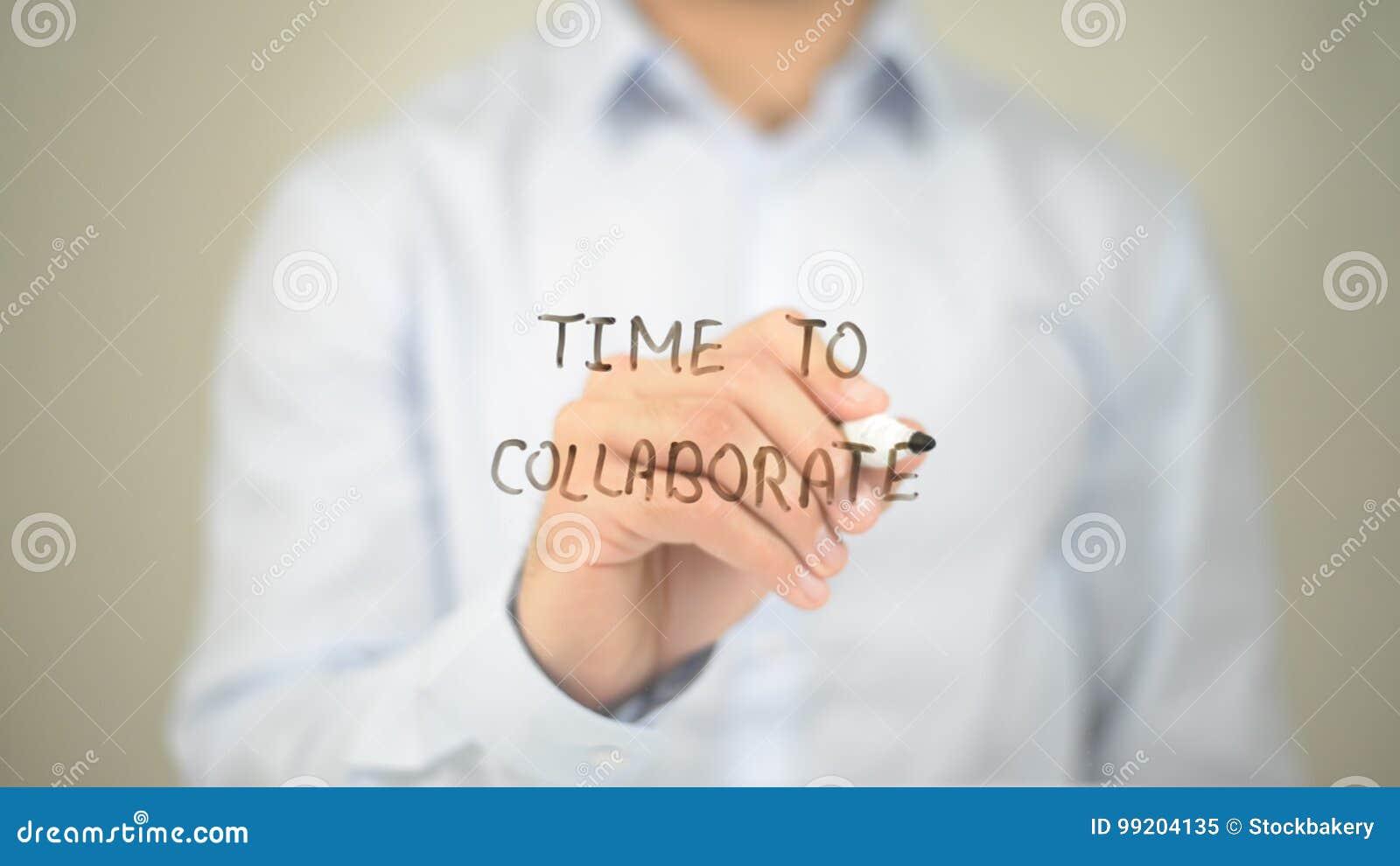 Время сотрудничать, укомплектовать личным составом сочинительство на прозрачном экране