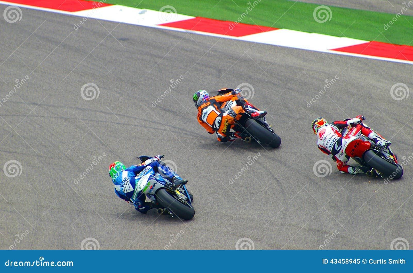Всадники Moto2 сражают в Остине, Техасе США
