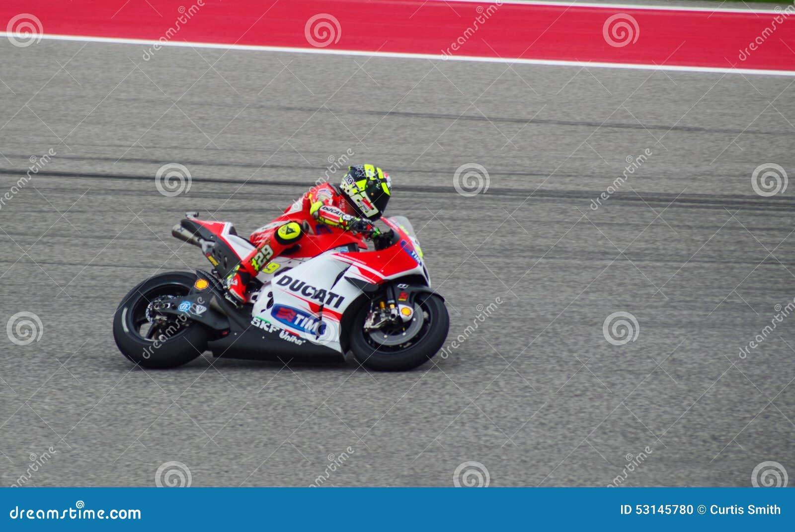 Всадник Андреа Iannone Остин Техас 2015 MotoGP