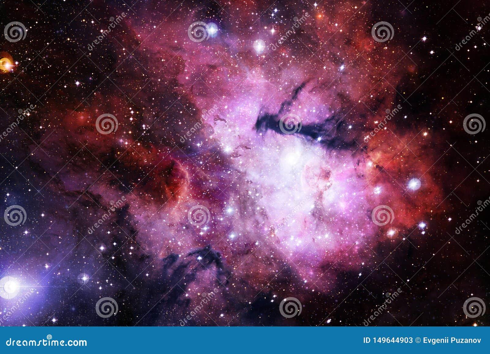 Вселенная заполнила звезды, межзвёздное облако и галактику Космическое искусство, обои научной фантастики