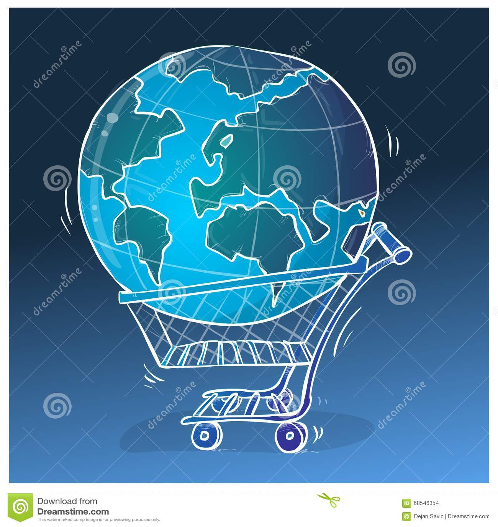 Всемирная иллюстрация покупок