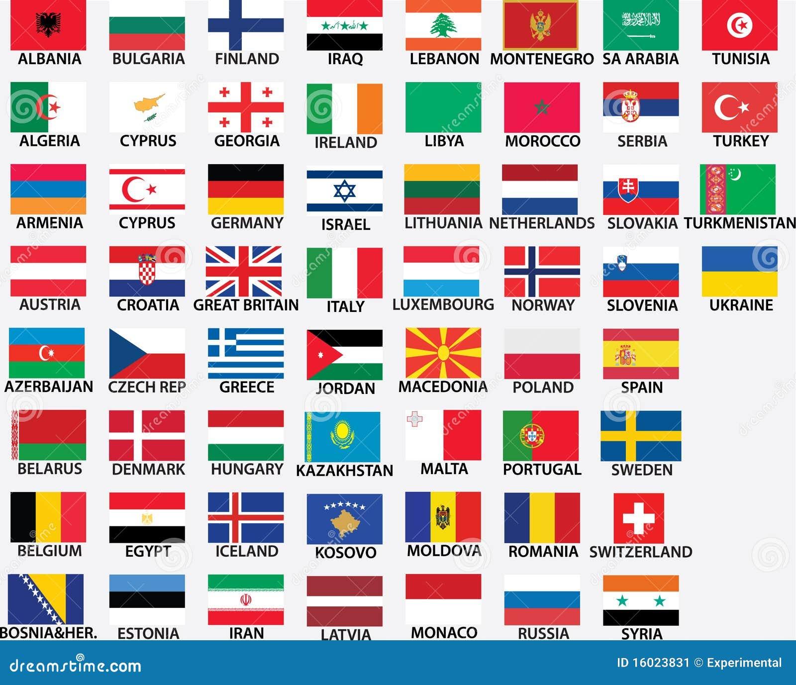 Дополнительная информация страны европы и их флаги документы товарной