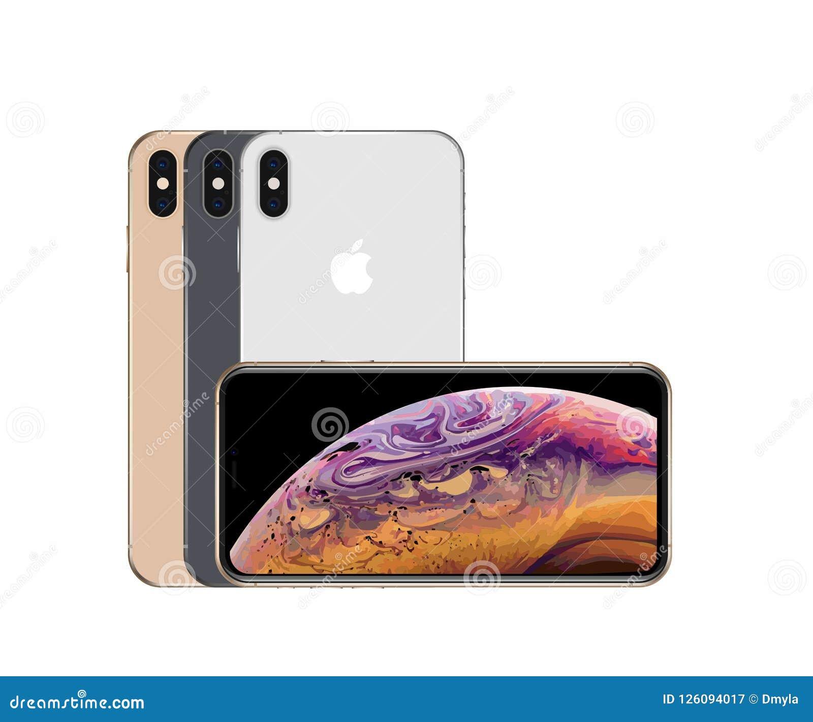 Все цвета xs iPhone максимальных