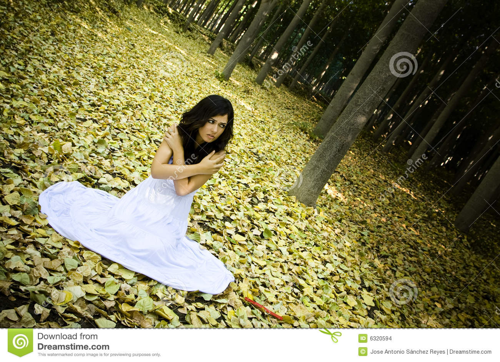 вспугнутые древесины женщины