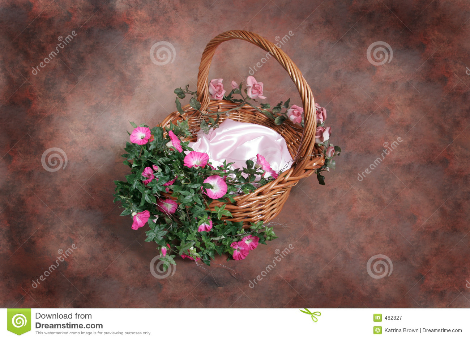 вставка фантазии клиента корзины флористическая изолировала студию фотографа установленную