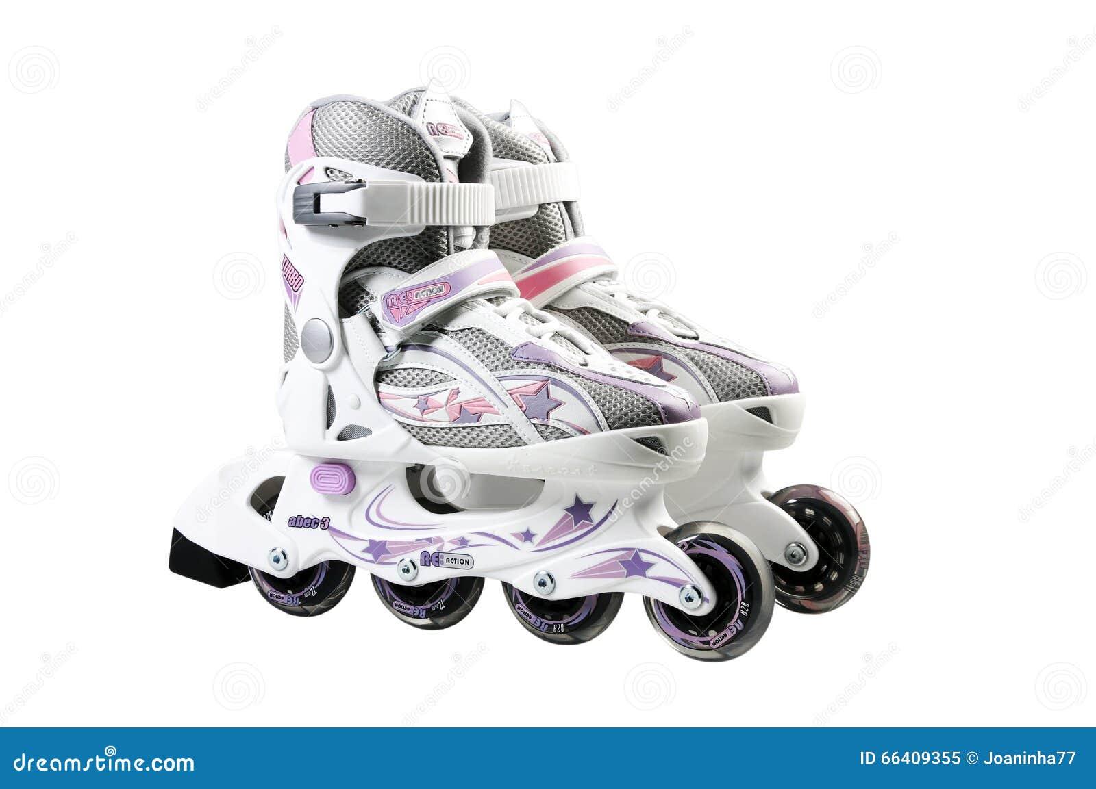 Встроенные rollerskates для детей Коньки ролика на белом bac
