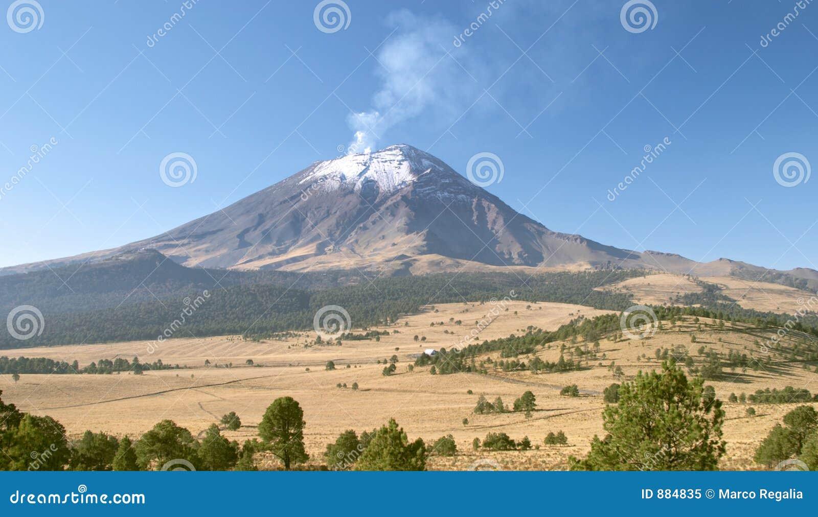 вулкан popocatepetl