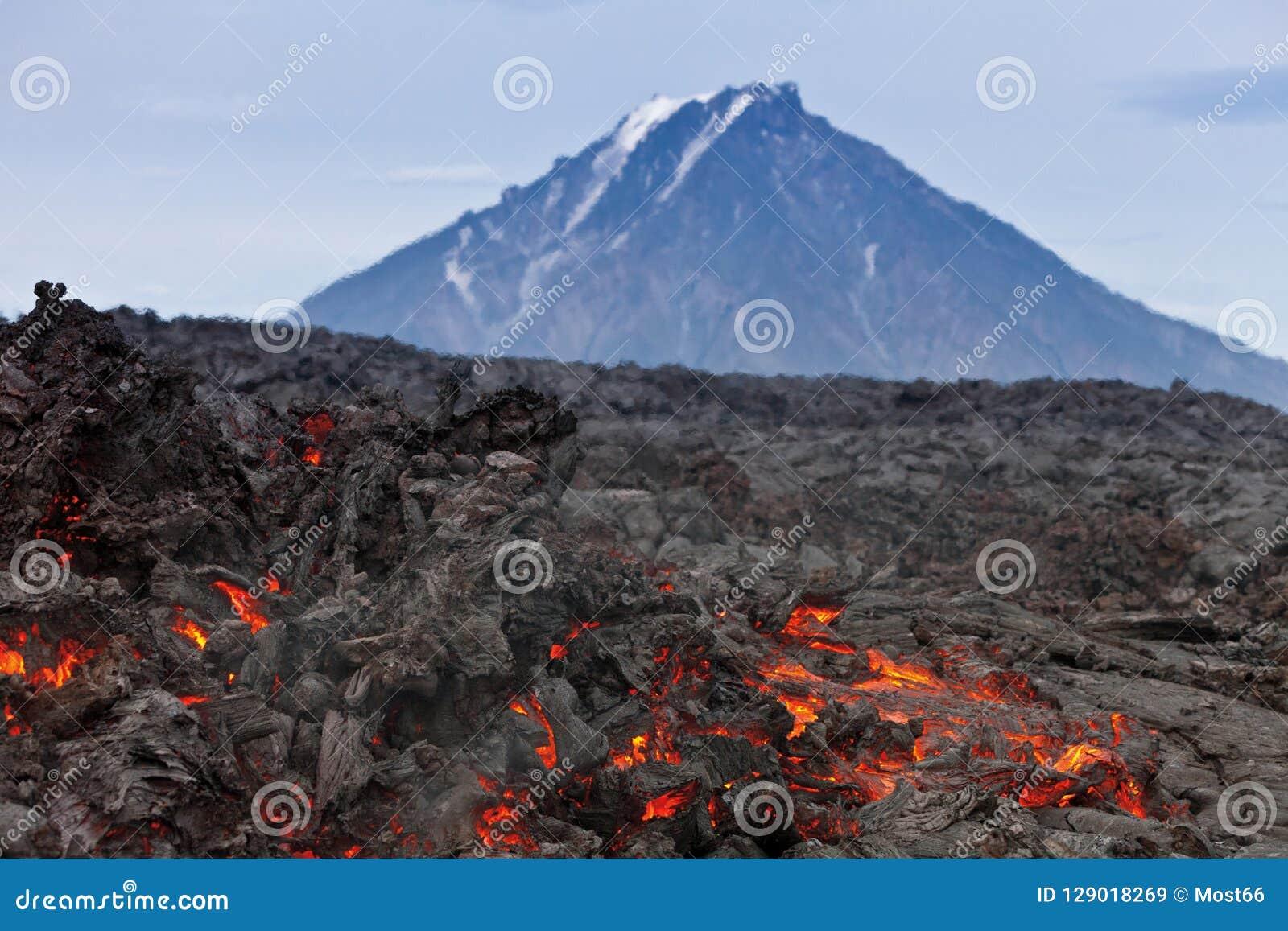 Вулкан Tolbachik извержения