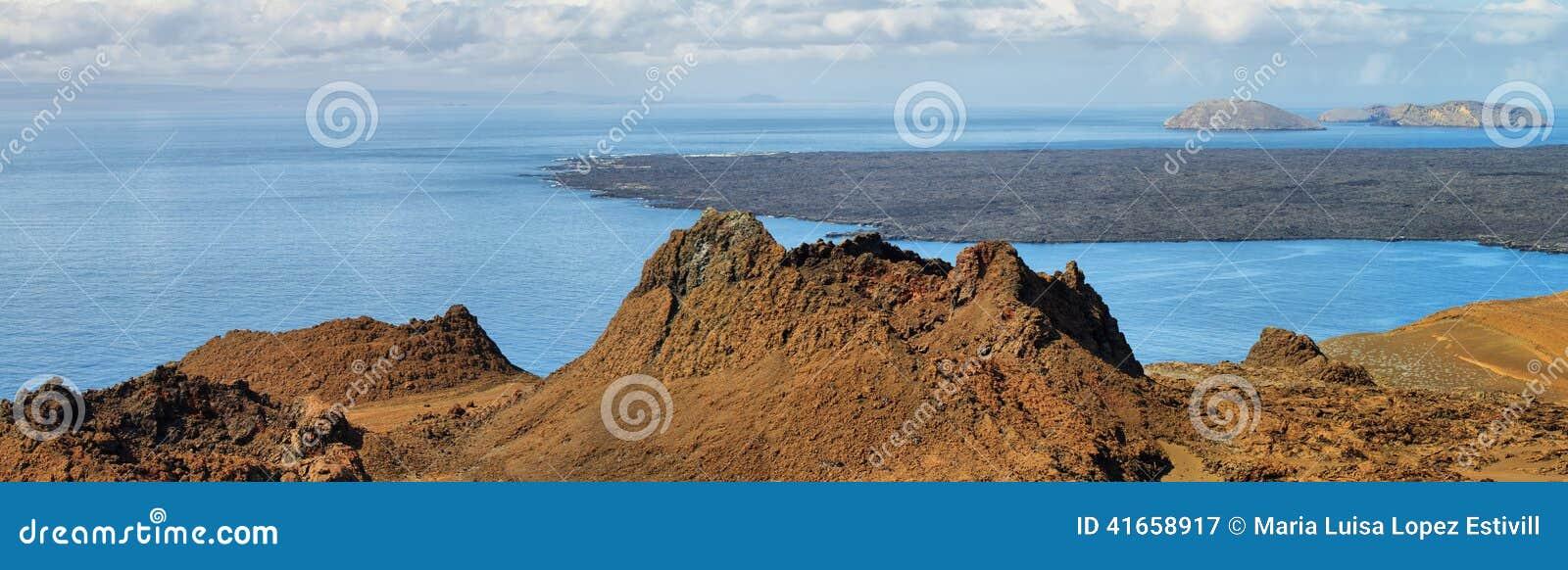 Вулканическое lansdscape в острове Bartolome