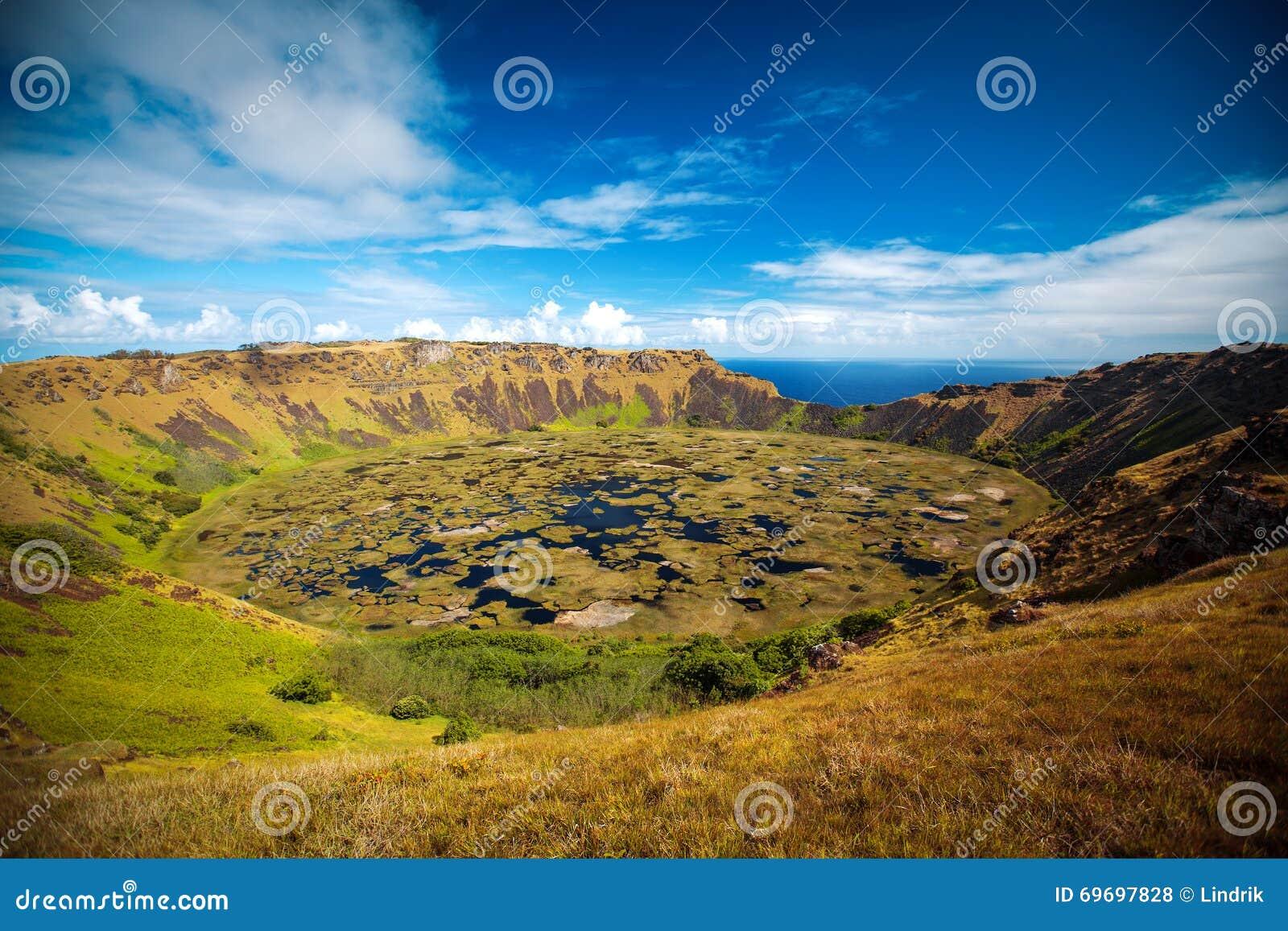 Вулкан на острове пасхи