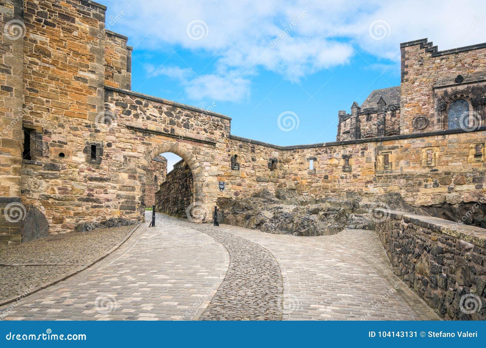 Вход к квадрату замка Эдинбурга внутреннему, Шотландия