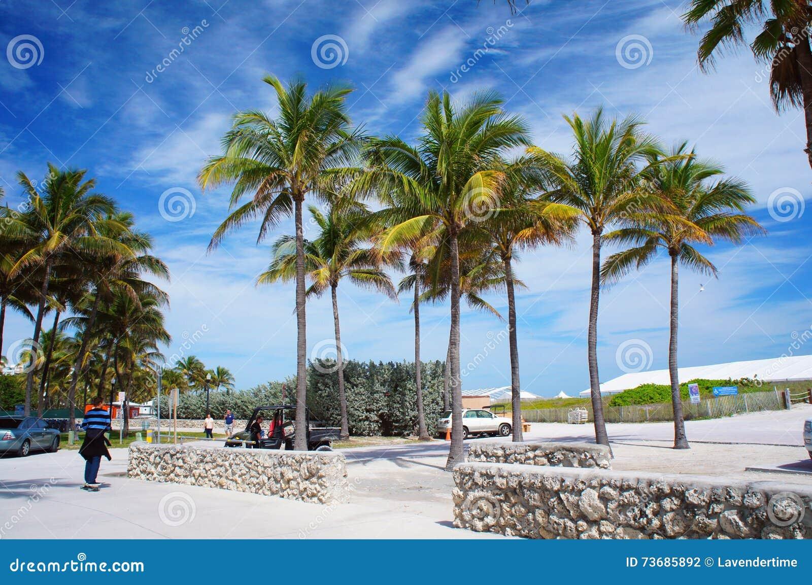 Вход к южному пляжу Майами, Соединенных Штатов