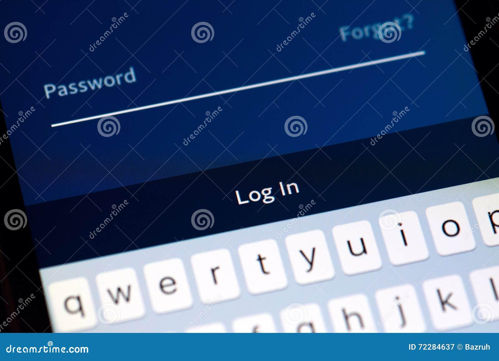 Download Вход пароля стоковое изображение. изображение насчитывающей забыл - 72284637