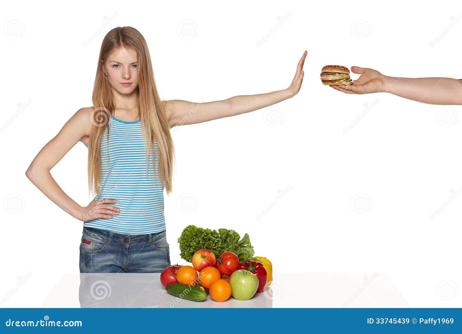Выбирать здоровую концепцию еды.