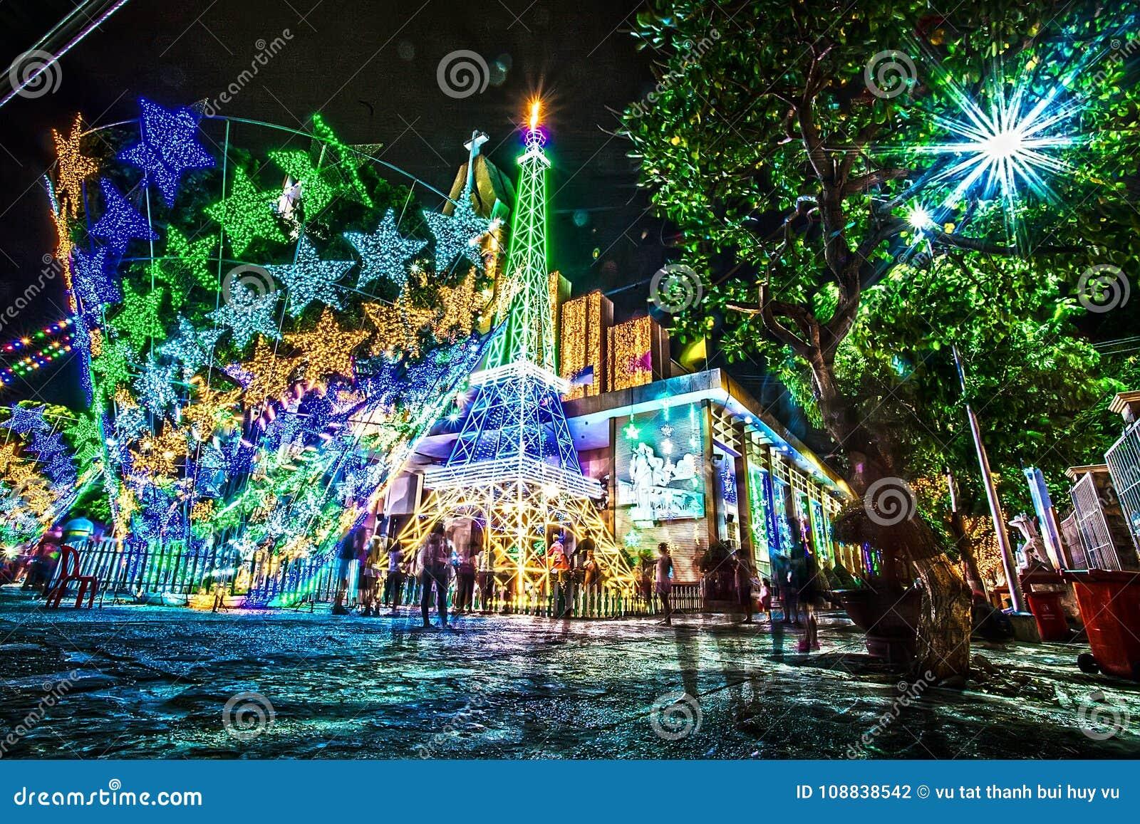 выдержка цвет цветасто Colorfull Церковь свет ноча напольно Сцены ночи искусство зодчество architrave Chrismast