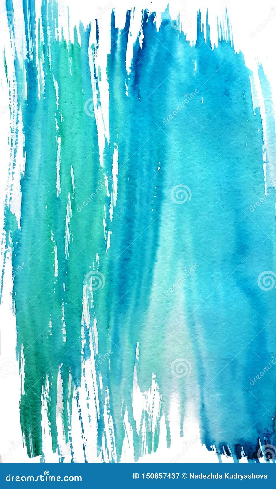 Выплеск воды в акварели