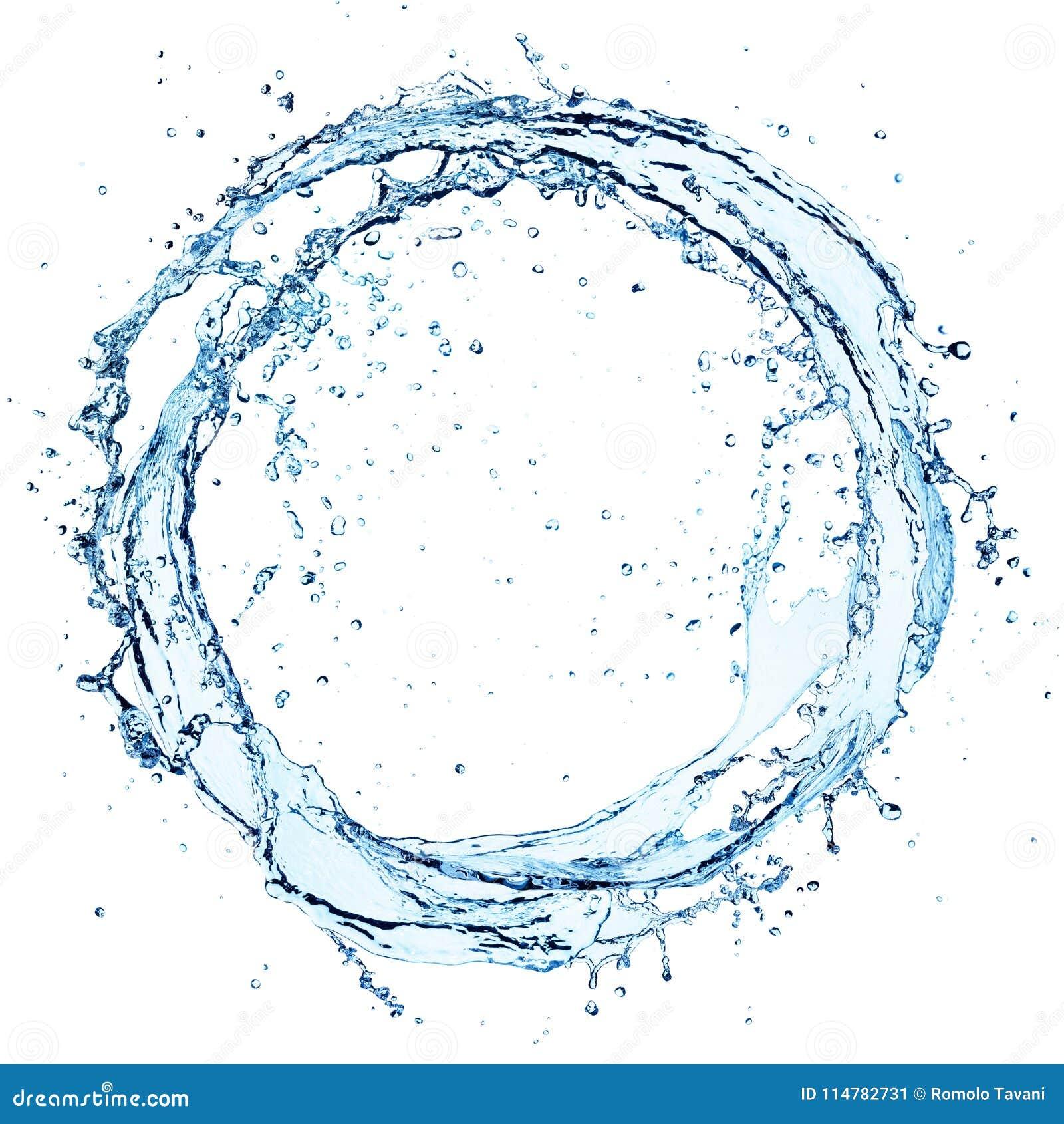 Выплеск воды в круге - округлой форме