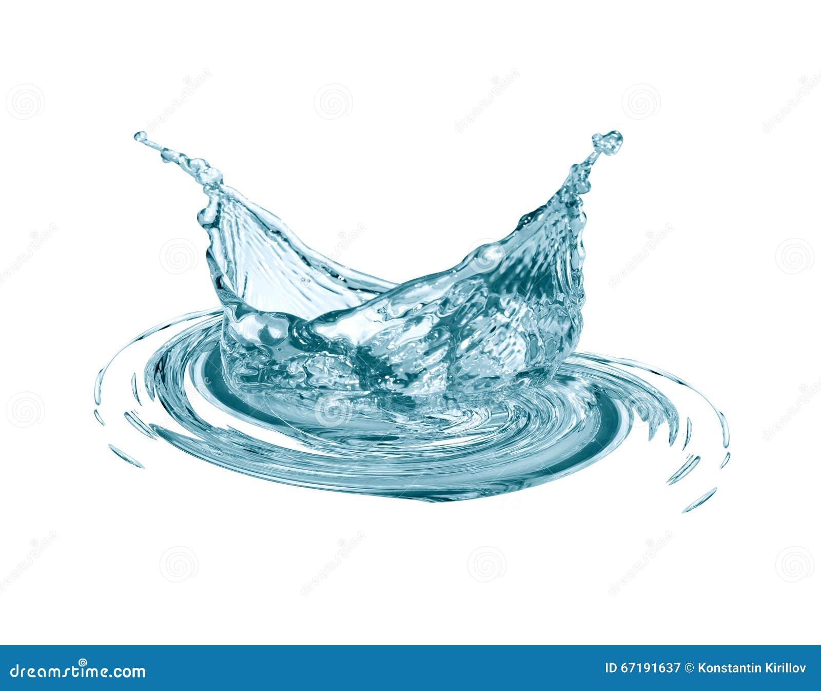 Выплеск воды на белизне