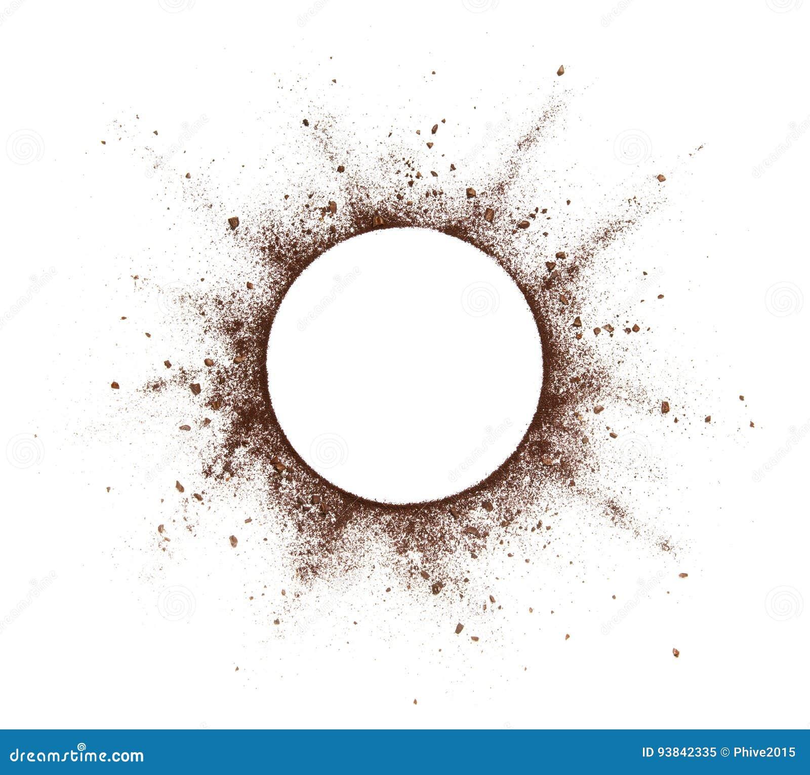 Выплеск порошка кофе