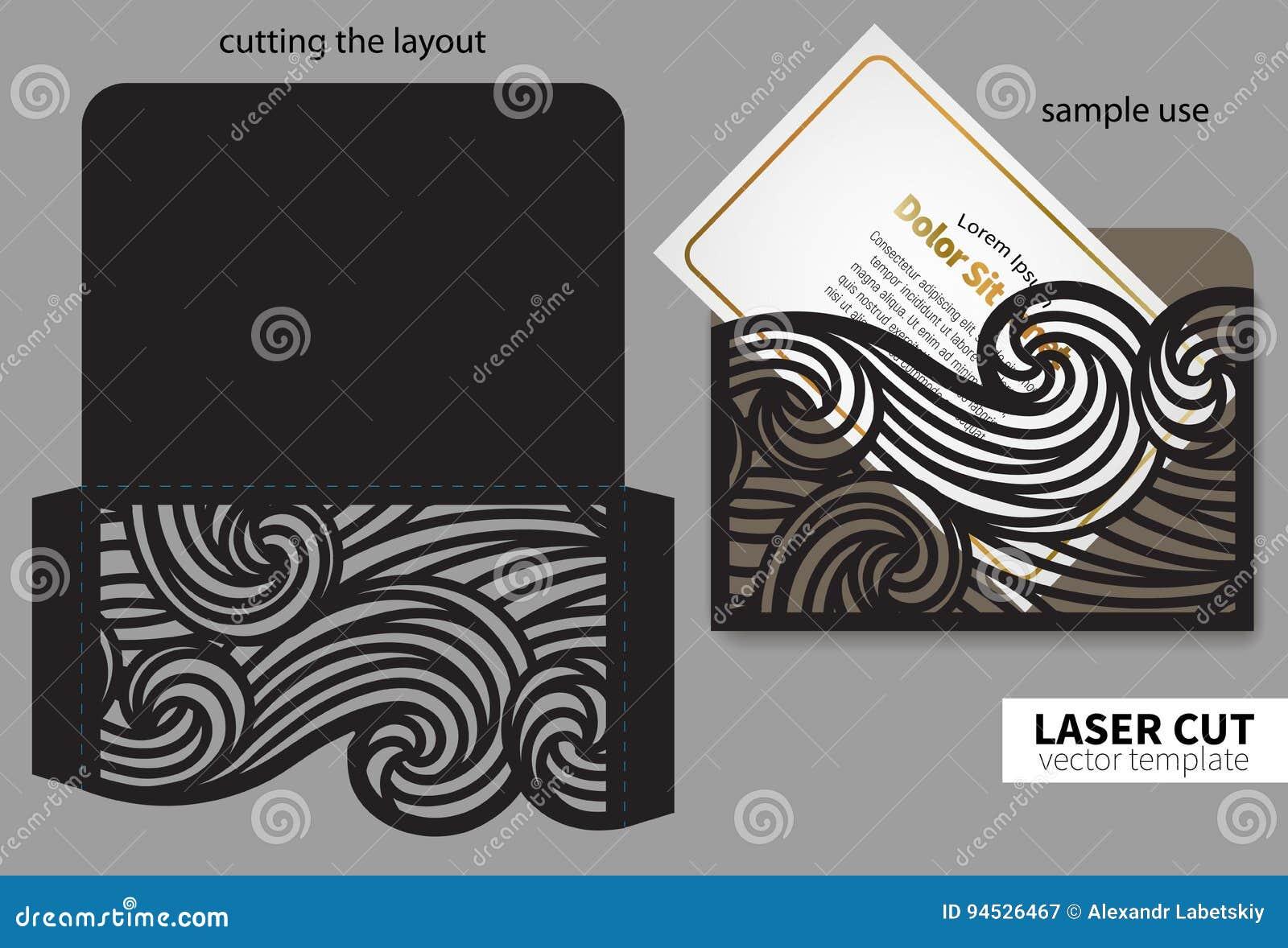 Вырезывание лазера вектора