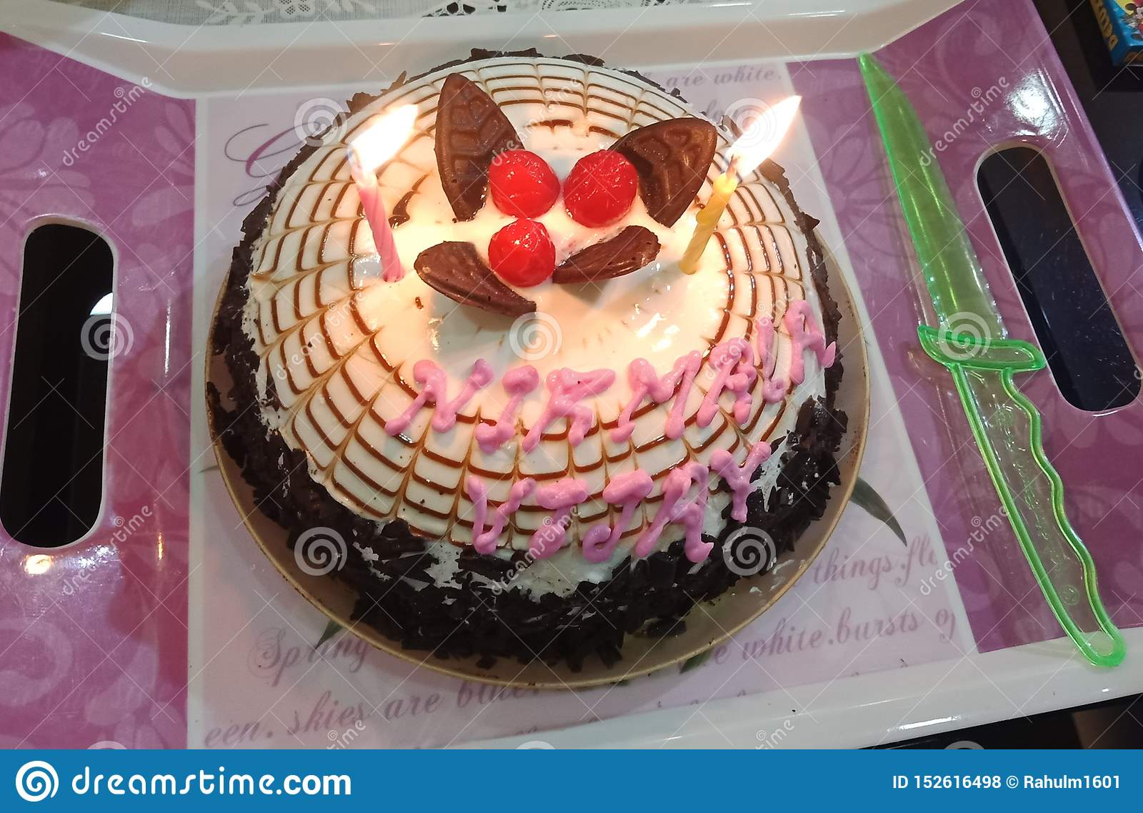 Вырезывание торта годовщины