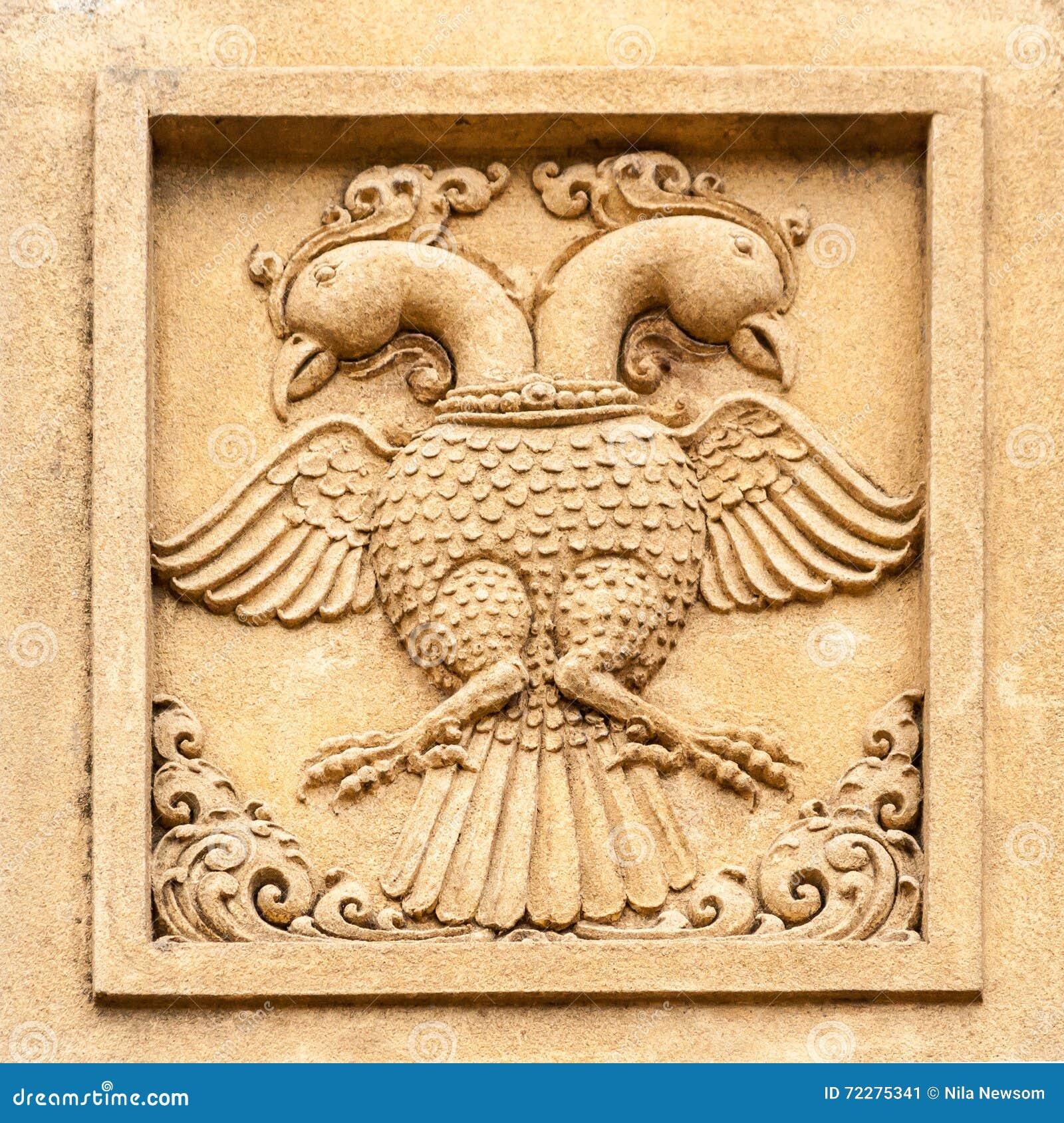 Download Высекать двойного возглавленного орла Стоковое Изображение - изображение насчитывающей landmark, bucky: 72275341