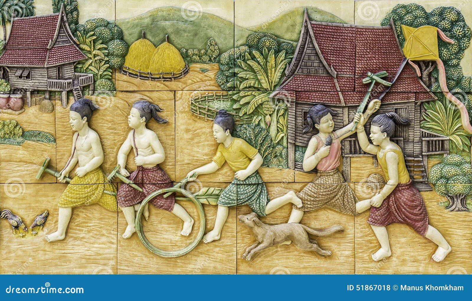 высекать тайское культуры каменное