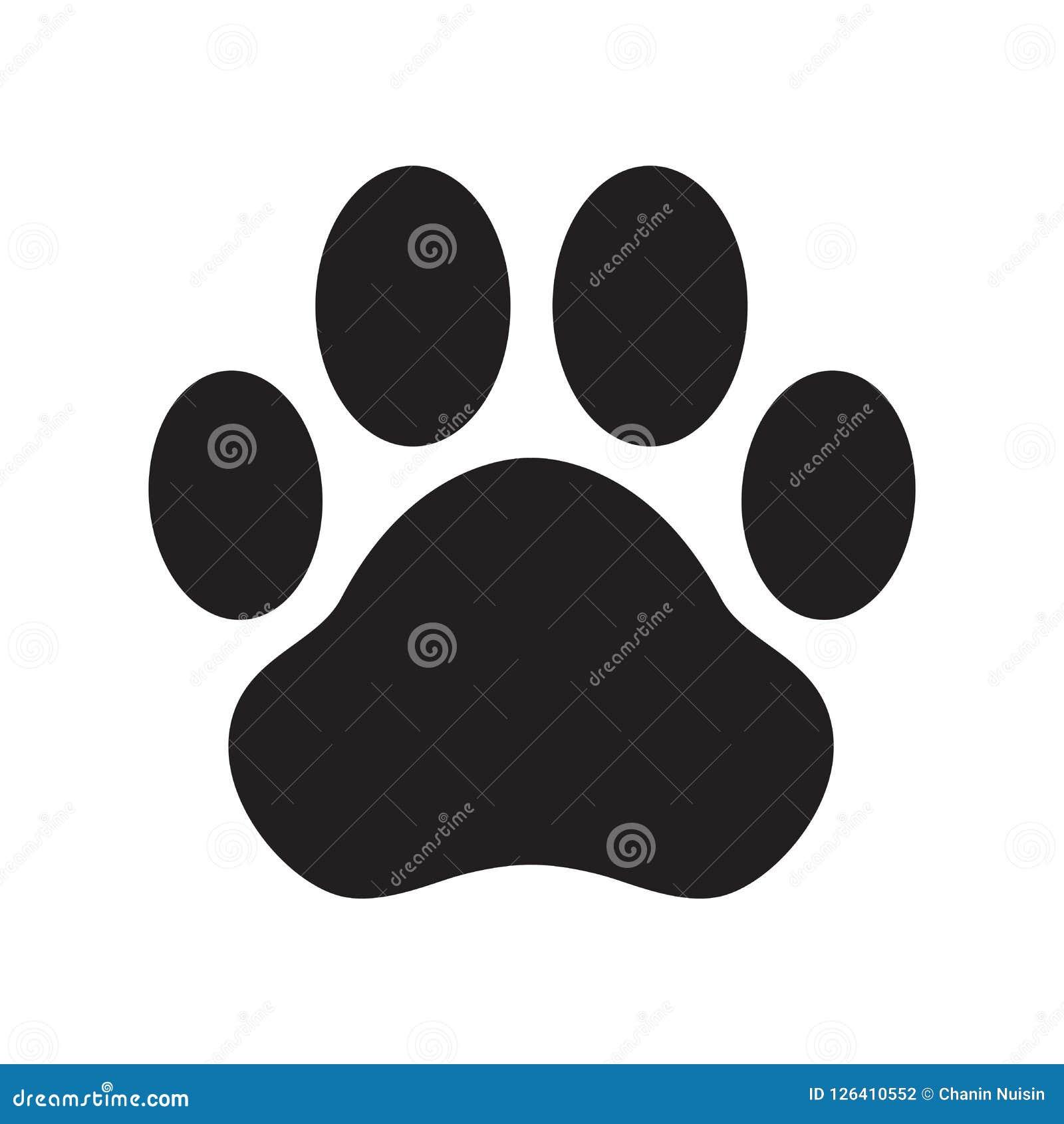 Выследите искусство зажима кота французского бульдога иллюстрации персонажа из мультфильма логотипа значка вектора лапки