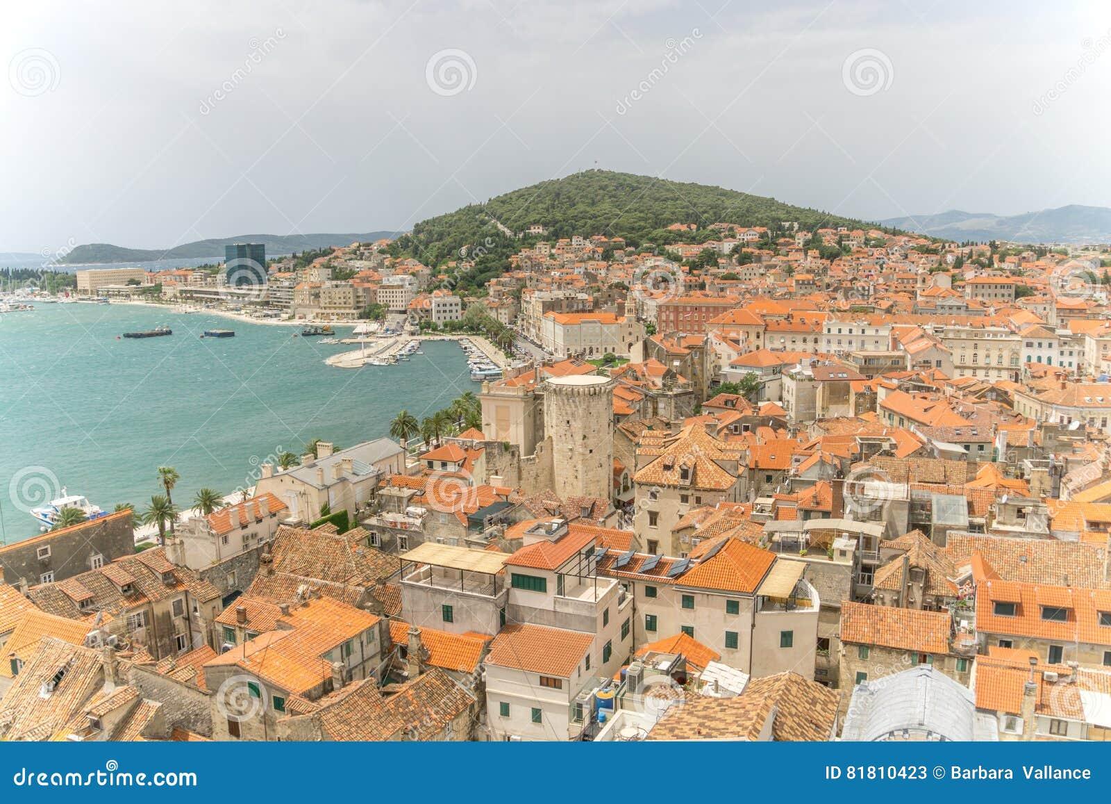Высокий взгляд разделения Хорватии