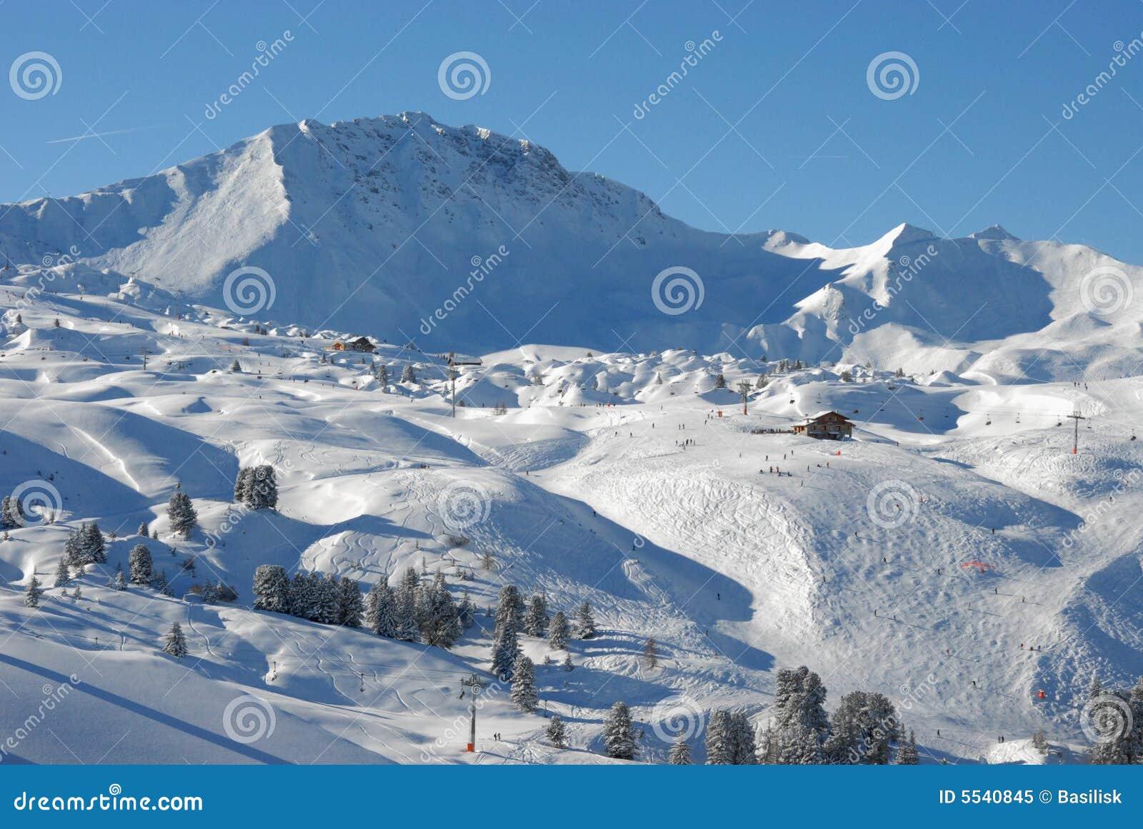 высокогорные наклоны ландшафта