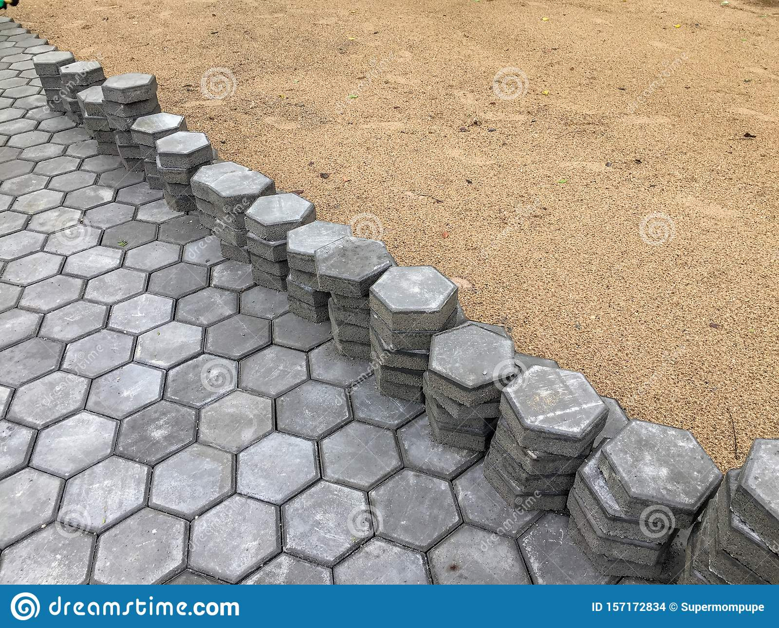 Узорчатый бетон бетона автомиксером