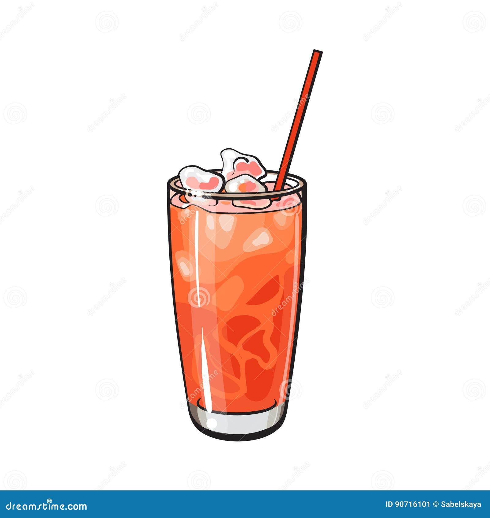 Высокорослое стеклянное вполне свеже сжиманного сока грейпфрута с льдом