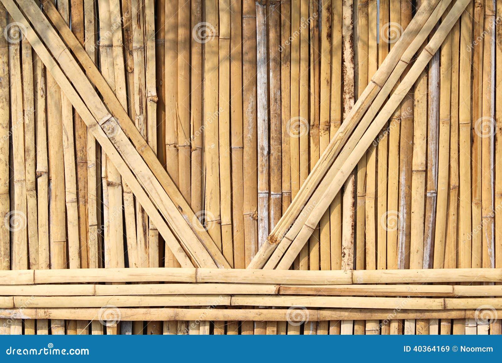 Высушенная бамбуковая текстурированная стена