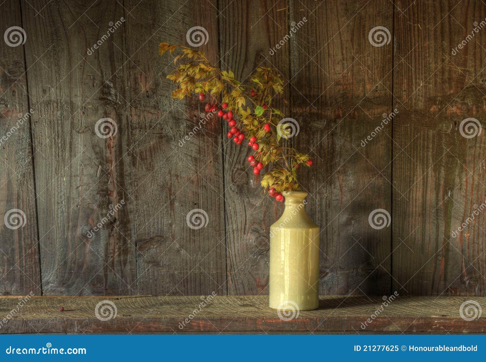 высушенная жизнь цветков ретро все еще вводит вазу в моду