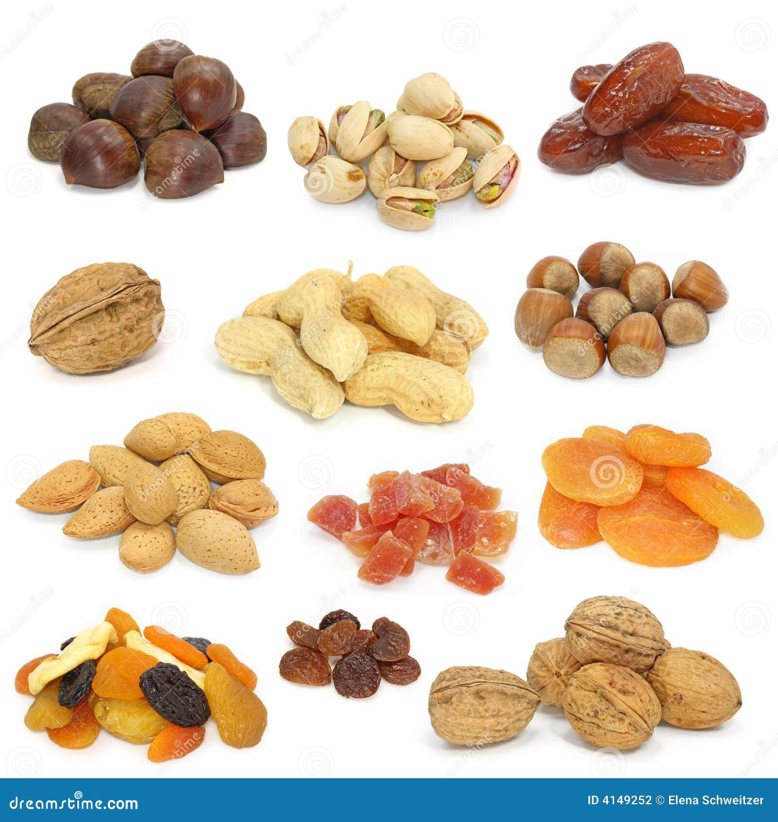 высушенное собрание fruits гайки
