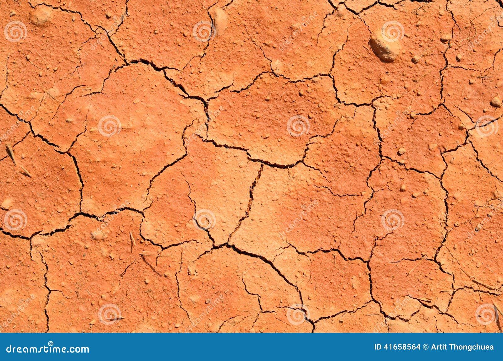 Высушите треснутую землю заполняя рамку