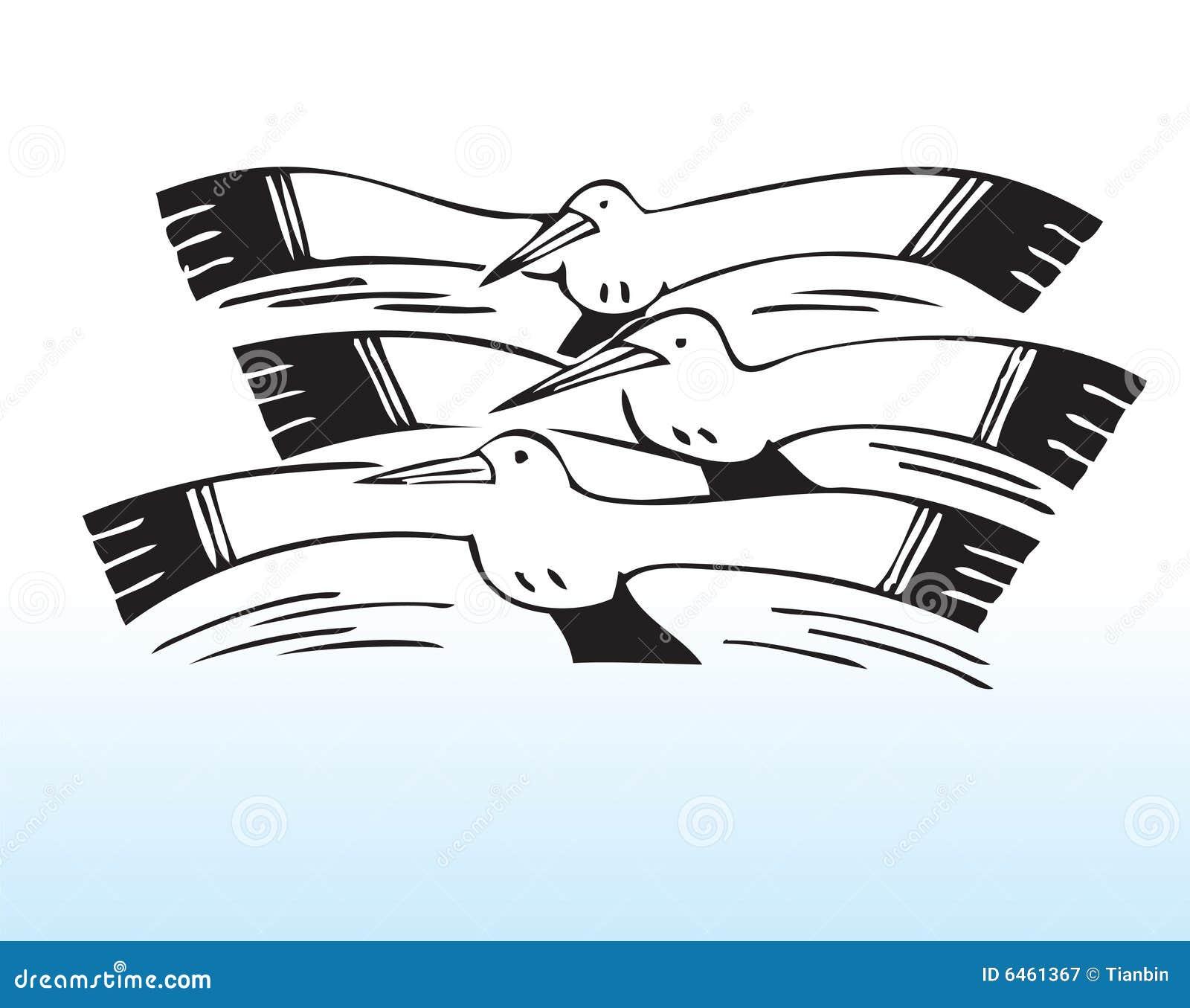 вычерченные чайки руки