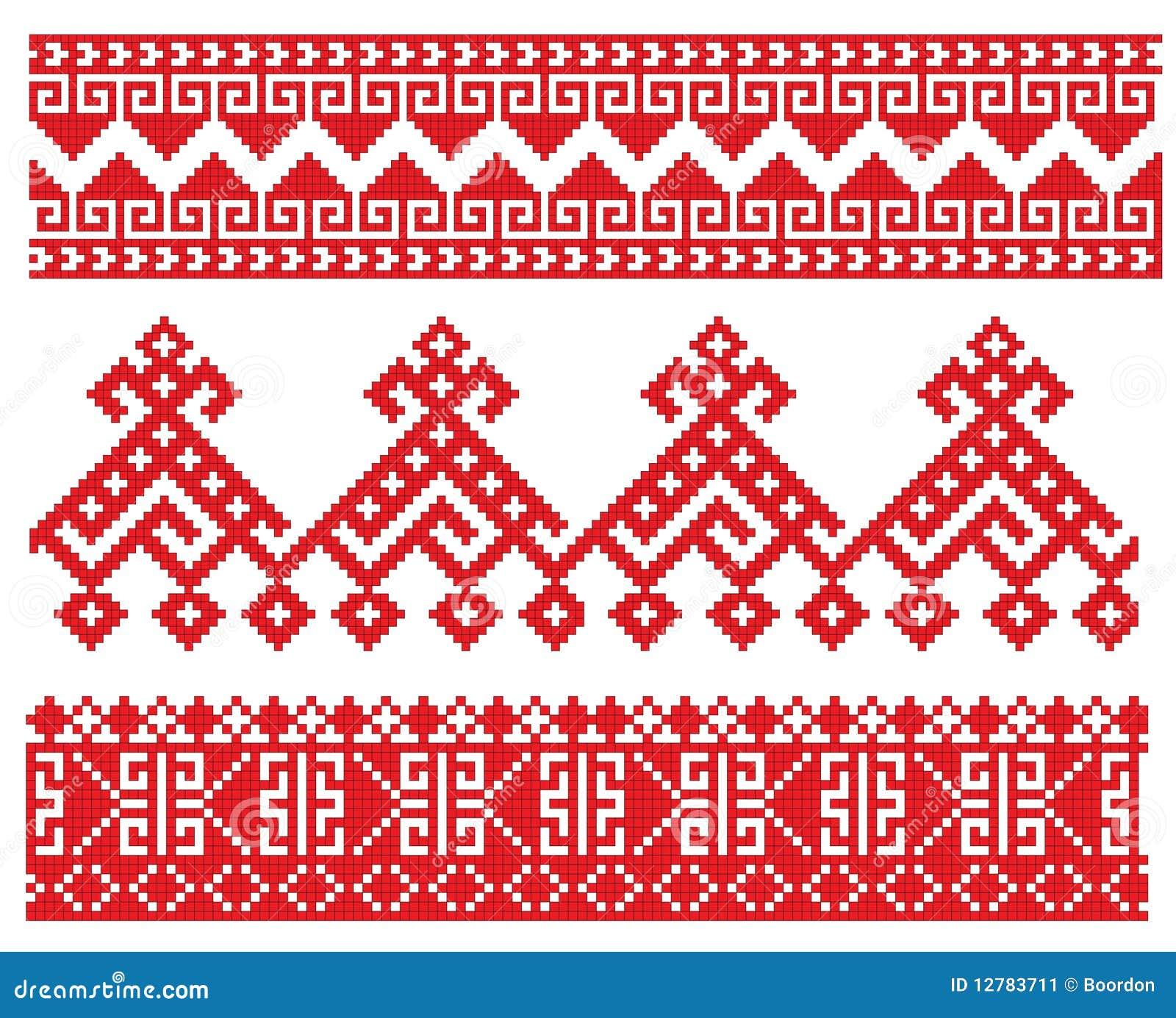Орнаменты русской вышивки 26