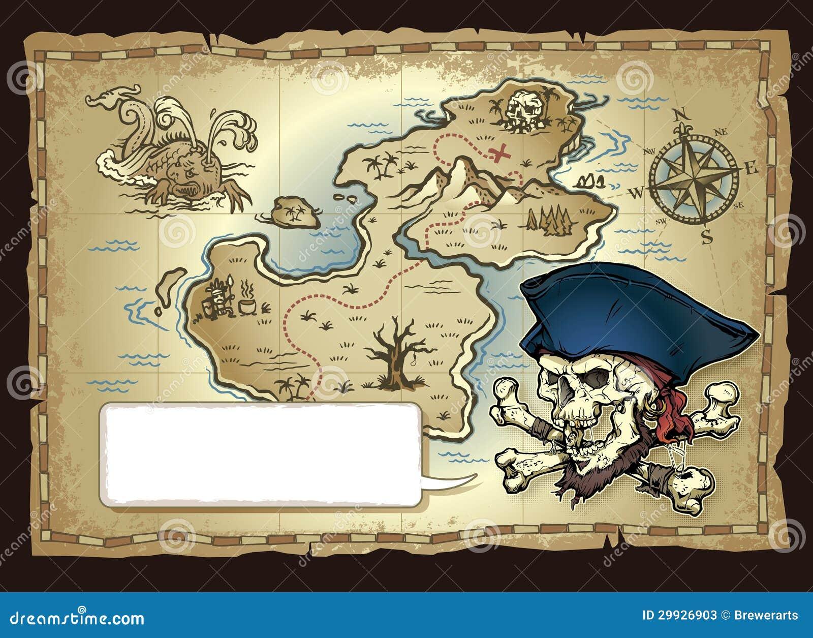 Карта сокровища острова черепа