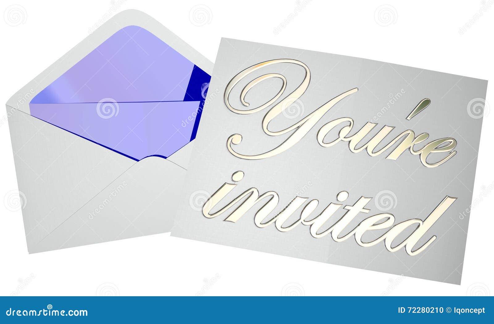 Download Вы приглашенное сообщение примечания события партии конверта приглашения открытое Иллюстрация штока - иллюстрации насчитывающей праздновать, письмо: 72280210