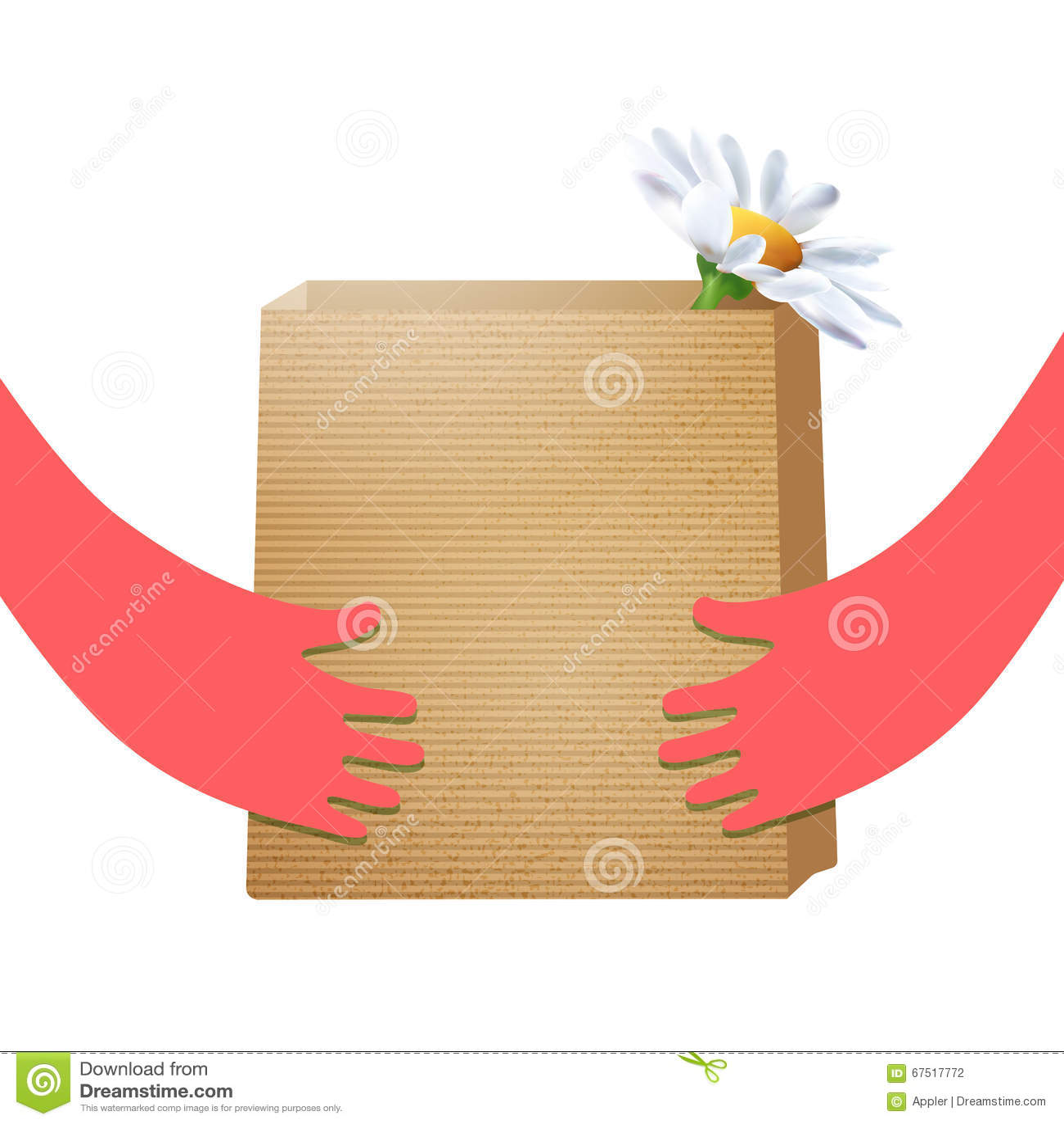 Владение пакета ремесла бумажное в руках