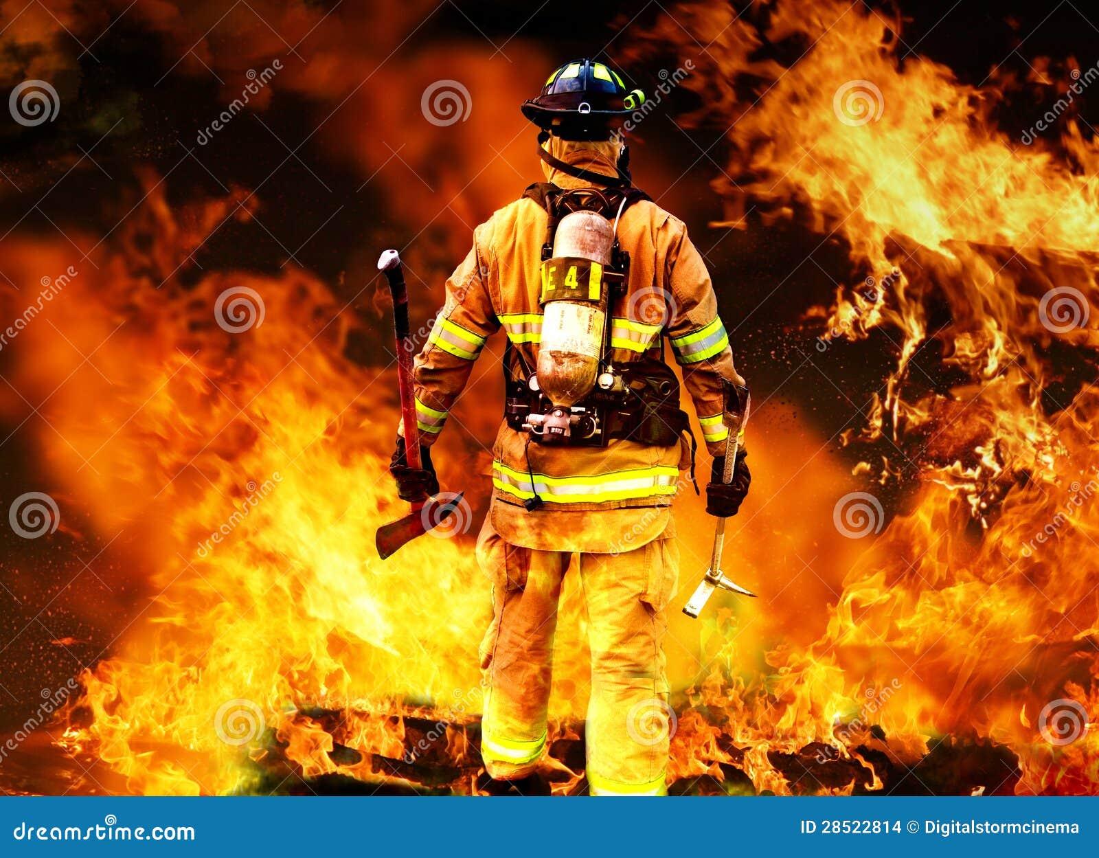 В к пожаре