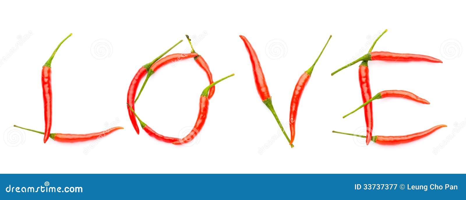 Влюбленность сказанная по буквам с перцами chili