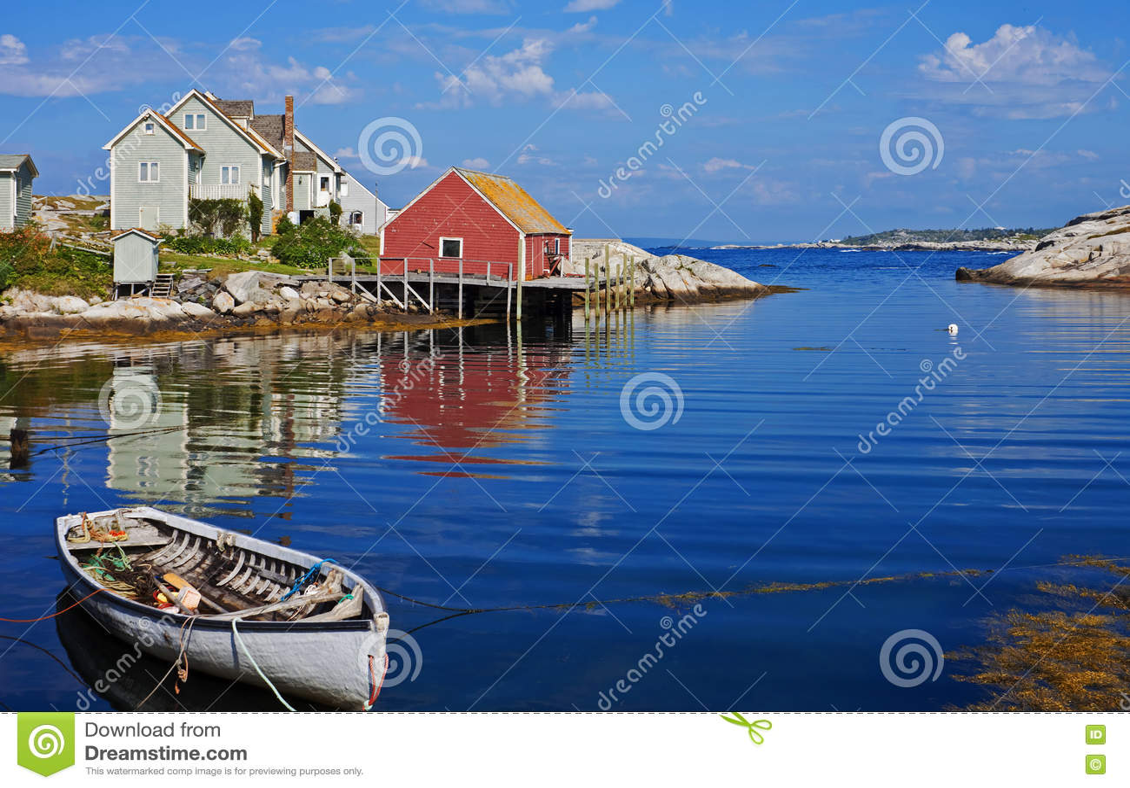Гавань бухты Peggys, Новая Шотландия