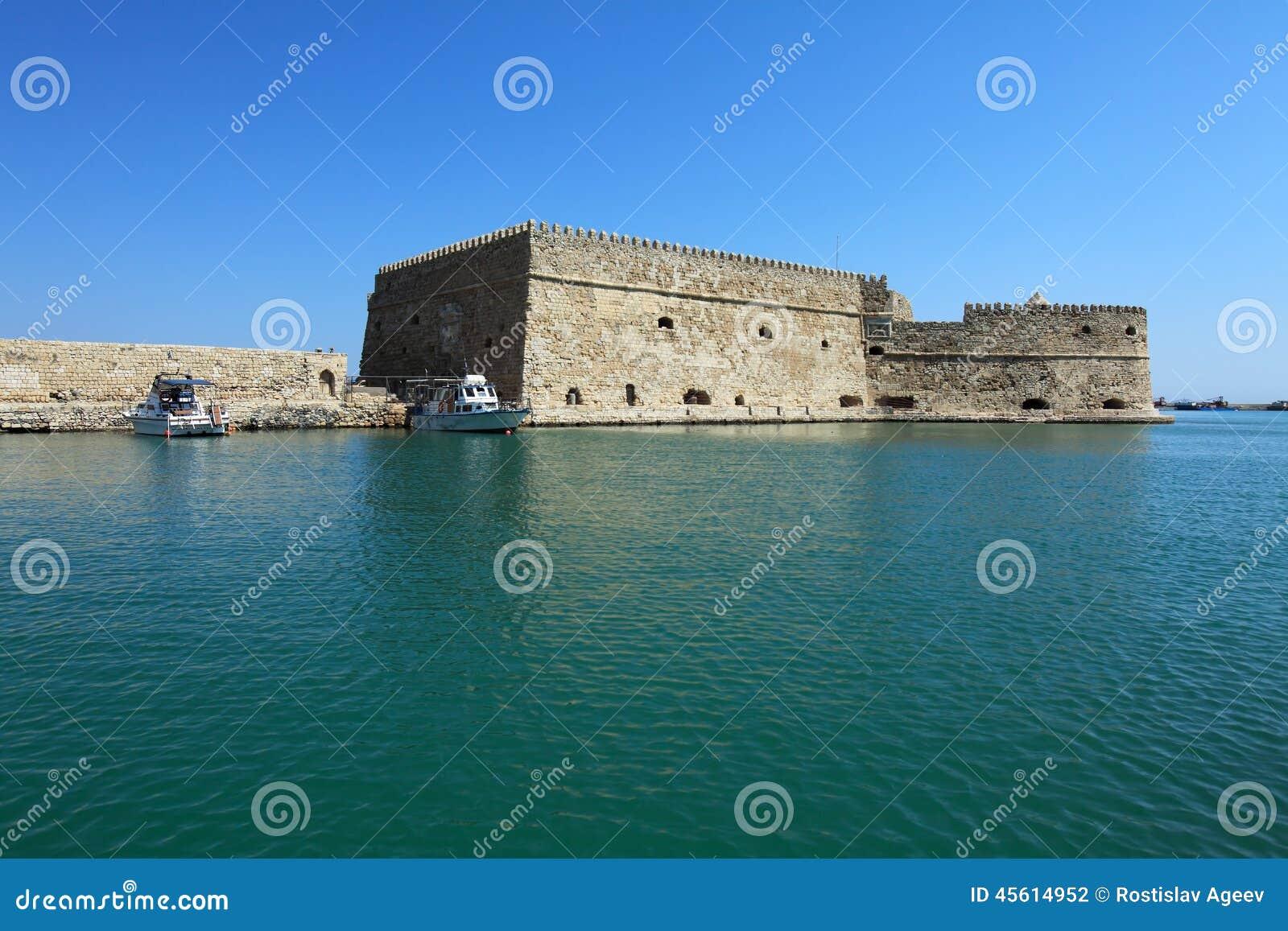 Гавань ираклиона и крепость, Крит