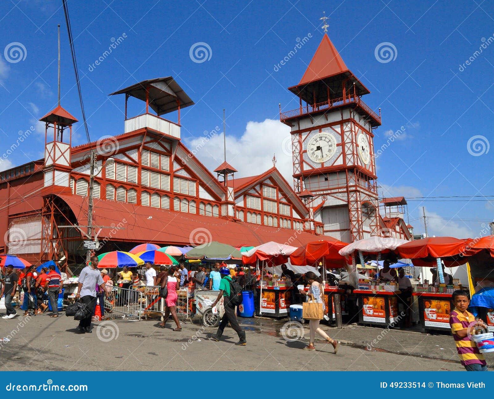Гайана, Джорджтаун: Рынок Stabroek