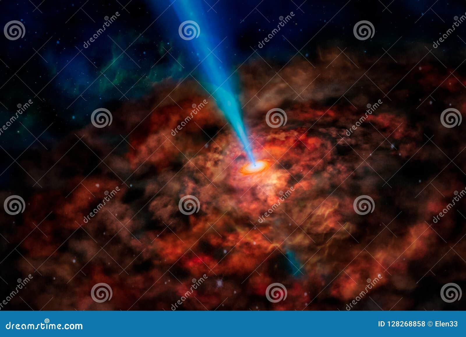 Галактика чужеземца фантазии с красными накаляя спиральными облаками и солнце испускают лучи